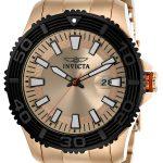 Invicta Pro Diver Men's Quartz Rose Gold Case, Rose Gold Dial – 22409