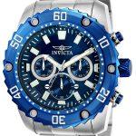 Invicta Pro Diver Men's Quartz Stainless Steel Case, Blue Dial – 22517