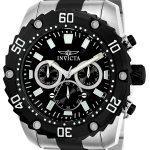 Invicta Pro Diver Men's Quartz Stainless Steel Case, Black Dial – 22521
