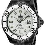 Invicta Pro Diver Men's Automatic Black Case, White Dial – 22215