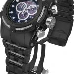 Invicta Jason Taylor Quartz Watch – Black, Stainless Steel case with Steel, Black tone Stainless Steel band – Model 14425
