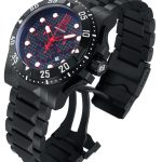 Invicta Jason Taylor Quartz Watch – Black case with Black tone Stainless Steel band – Model 14452
