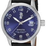 Invicta I-Force Quartz Watch – Stainless Steel case with Black tone Leather band – Model 14786