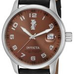 Invicta I-Force Quartz Watch – Stainless Steel case with Black tone Leather band – Model 14787