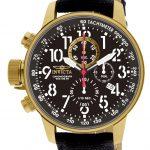 Invicta I-Force Quartz Watch – Gold case with Black tone Rifle band – Model 1515