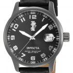 Invicta I-Force Quartz Watch – Gunmetal case with Black tone Leather band – Model 15256