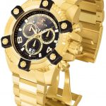 Invicta Reserve Octane Quartz Watch – Gold case with Gold tone Stainless Steel band – Model 15827