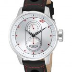 Invicta S1 Rally Quartz Watch – Stainless Steel case with Black tone Leather band – Model 16019