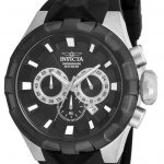 Invicta I-Force Quartz Watch – Black, Stainless Steel case with Black tone Silicone band – Model 16918
