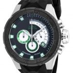 Invicta I-Force Quartz Watch – Black, Stainless Steel case with Black tone Silicone band – Model 16922
