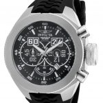 Invicta I-Force Quartz Watch – Stainless Steel case with Black tone Silicone band – Model 16926