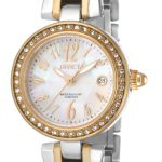Invicta Angel Swiss Movement Quartz Watch – Gold case with Steel, Gold tone Stainless Steel band – Model 17373