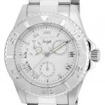 Invicta Angel Womens Quartz 40mm Stainless Steel Case Silver Dial – Model 17523