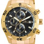 Invicta Specialty Quartz Watch – Gold case with Gold tone Stainless Steel band – Model 17751
