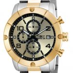 Invicta Specialty Quartz Watch – Gold, Stainless Steel case with Steel, Gold tone Stainless Steel band – Model 17767