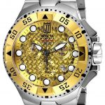Invicta Jason Taylor Quartz Watch – Gold, Stainless Steel case Stainless Steel band – Model 17843