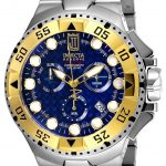 Invicta Jason Taylor Quartz Watch – Gold, Stainless Steel case Stainless Steel band – Model 17844