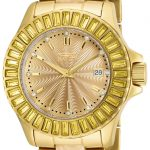 Invicta Angel Womens Quartz Gold Case with Gold tone Stainless Steel band – Model 17941