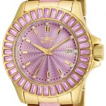 Invicta Angel Swiss Movement Quartz Watch – Gold case with Gold tone Stainless Steel band – Model 17942