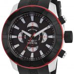 Invicta S1 Rally Quartz Watch – Black, Stainless Steel case with Black tone Silicone band – Model 18610