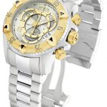Invicta Excursion Quartz Watch – Gold, Stainless Steel case Stainless Steel band – Model 1877