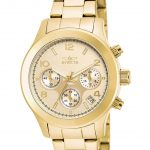 Invicta Angel Quartz Watch – Gold case with Gold tone Stainless Steel band – Model 19217