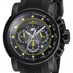 Invicta S1 Rally Quartz Watch – Black case with Black tone Stainless Steel, Silicone band – Model 19324