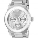 Invicta Angel Women's Quartz Stainless Steel Case, Silver Dial – 20152