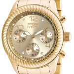 Invicta Angel Quartz Watch – Gold case with Gold tone Stainless Steel band – Model 20266