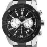 Invicta Specialty Men's Quartz 45mm Stainless Steel, Black Case Black Dial – Model 21469