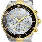 Invicta Pro Diver Men's Quartz Stainless Steel, Gold Case, Platinum Dial – 22038