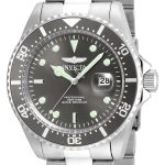 Invicta Pro Diver Men's Quartz Stainless Steel Case, Grey Dial – 22050
