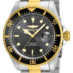 Invicta Pro Diver Men's Quartz Stainless Steel, Gold Case, Grey Dial – 22057