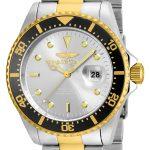 Invicta Pro Diver Men's Quartz Stainless Steel, Gold Case, Silver Dial – 22059