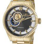 Invicta Pro Diver Men's Automatic Gold Case, Black Dial – 22081