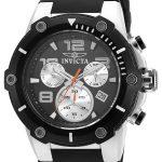 Invicta Speedway Men's Quartz Stainless Steel Case, Black Dial – 22235
