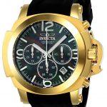 Invicta Coalition Forces Mens Quartz 48mm Gold Case Black Dial – Model 22277