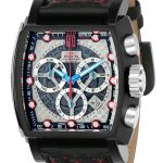 Invicta Jason Taylor Mens Quartz 48mm Black, Stainless Steel Case Silver, Red Dial – Model 22377
