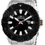 Invicta Pro Diver Men's Quartz SS Case, Black Dial – 22405