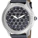 Invicta Angel Women's Quartz Stainless Steel Case, Charcoal, Grey Dial – 22565