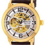 Invicta Objet D Art Men's Automatic 44mm Gold Case Silver Dial – Model 22608