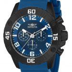 Invicta Pro Diver Men's Quartz Black Case, Blue Dial – 22701
