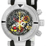 Invicta Disney Limited Edition Mickey Mouse Women's Quartz 38mm Stainless Steel Case Black, Gunmetal, Silver Dial – Model 22736