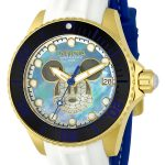 Invicta Disney Limited Edition Mickey Mouse Women's Automatic Gold Case, Blue, Black, White Dial – 22754