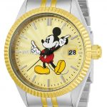 Invicta Disney Limited Edition Mickey Mouse Men's Quartz 43mm Stainless Steel, Gold Case Gold Dial – Model 22772