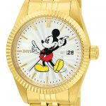 Invicta Disney Limited Edition Mickey Mouse Women's Quartz 36mm Gold Case Silver Dial – Model 22775