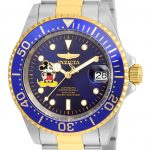 Invicta Disney Limited Edition Mickey Mouse Mens 40mm Stainless Steel Gold, Blue Dial Automatic Watch – Model 22778
