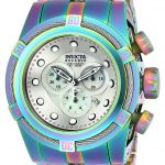 Invicta Bolt Mens Quartz 53mm Stainless Steel, Iridescent Case White, Silver Dial – Model 22840