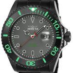Invicta Pro Diver Men's Quartz 43mm Black Case Grey Dial – Model 23009