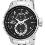 Invicta S1 Rally Mens Quartz 48mm Stainless Steel Case Black Dial – Model 23060